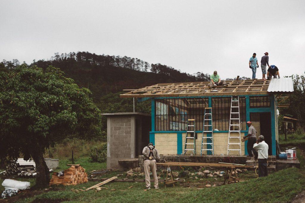 Work begins on the schoolhouse